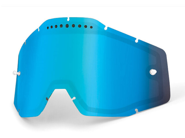 100% Vented Dual Replacement Lenses, blue / mirror